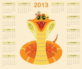Creative Snake calendar 2013 design vector set 05