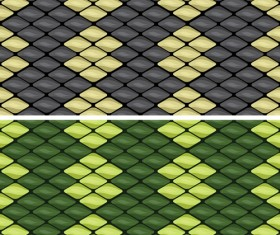 Vector set of Snake skin pattern elements 04