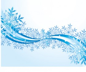 Set of snowflake with waves backgrounds art vector 01