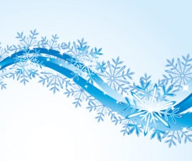 Set of snowflake with waves backgrounds art vector 02