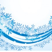 Link toSet of snowflake with waves backgrounds art vector 03