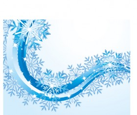 Set of snowflake with waves backgrounds art vector 04