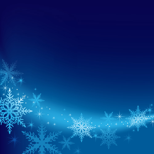 Brilliant snowflakes winter vector backgrounds 01 Over millions – Winter Powerpoint Template
