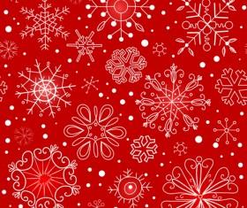 Winter Snowflakes pattern design vector graphics 01