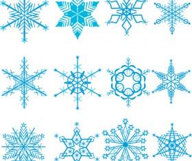 Winter Snowflakes pattern design vector graphics 02