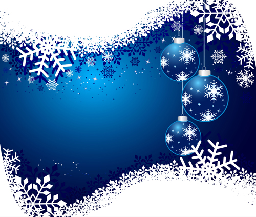 Set of shiny snowflakes background art vector 04