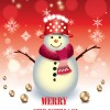 Cute Xmas Snowman design elements vector set 03