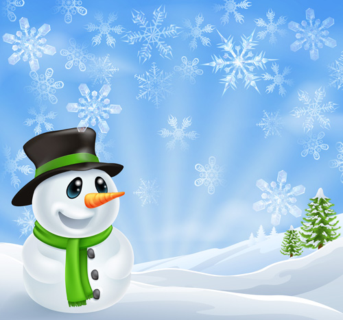 cute xmas snowman design elements vector set   over millions, Powerpoint