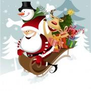 Link toCute xmas snowman design elements vector set 08
