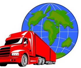 Set of World logistic design vector material 05
