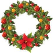 Link toPretty xmas wreath design vector material 04