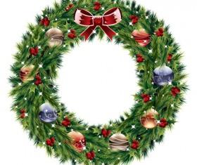 Pretty xmas wreath design vector material 05