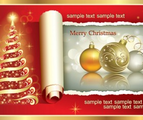 Vector Set of Xmas Backgrounds design elements 04
