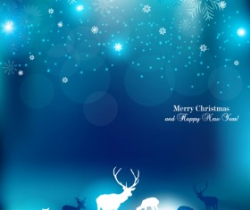 Vector Set of Xmas Backgrounds design elements 09