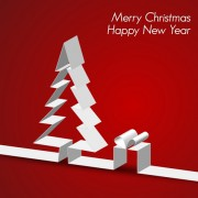Link toSet of origami xmas greeting cards design vector 03