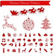 Link toVector set of different xmas icons elements 01