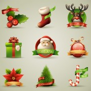 Link toVector set of different xmas icons elements 02