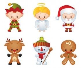 Vector Set of different Xmas icons elements 05