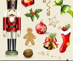 Vector Set of different Xmas icons elements 06