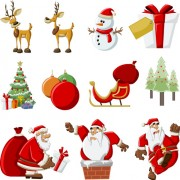 Link toVector set of different xmas icons elements 07