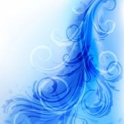 Link toOrnate blue floral backgrounds vector