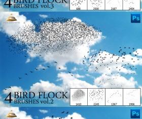 Bird flock Brushes