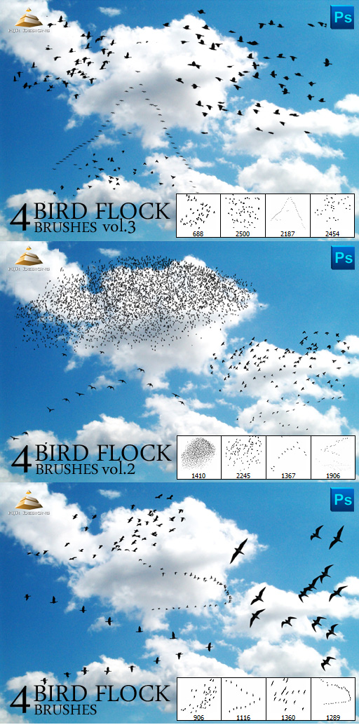 Bird flock Brushes