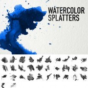 Link toWatercolor splatters brushes