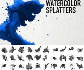 Watercolor splatters Brushes