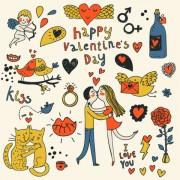 Link toCartoon valentine ornaments 01 vector graphics
