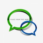 Link toGreen and blue speech bubbles vector