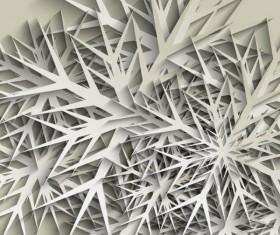 Paper-cut snowflake vector