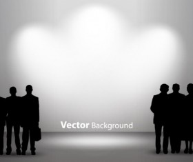 Set of Interior showroom and light wall vector backgrounds 01