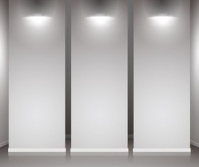 Set of Interior showroom and light wall vector backgrounds 02