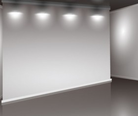 Set of Interior showroom and light wall vector backgrounds 03