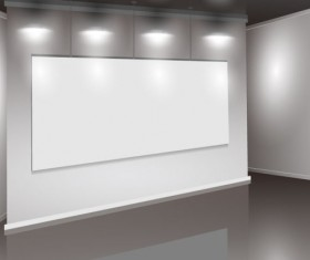 Set of Interior showroom and light wall vector backgrounds 04