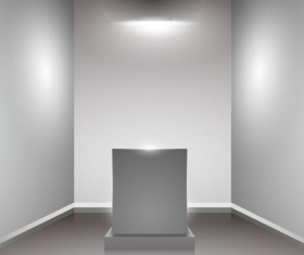 Set of Interior showroom and light wall vector backgrounds 05