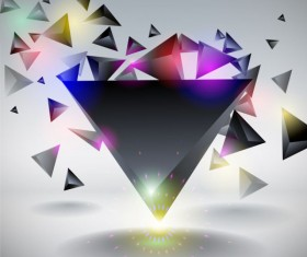 Dynamic triangle Concept vector backgrounds