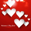 Valentine Day heart-shaped cards vector 04