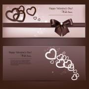 Link toRomantic happy valentine day cards vector 01
