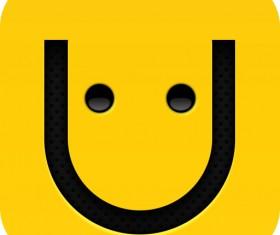 Cute facial expression psd icon 01