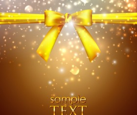 Bright Backgrounds with Bow design vector 03