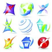 Link toModern 3d logos design elements vector 01