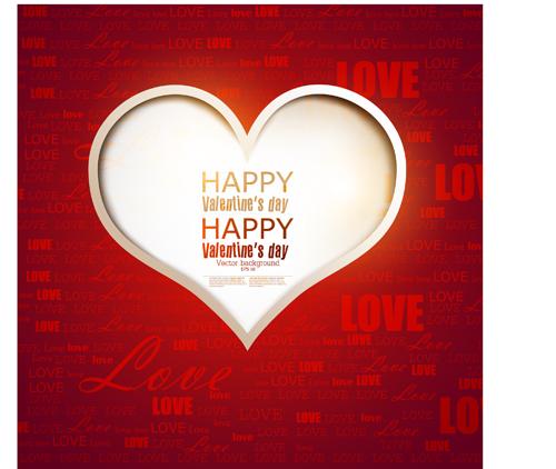 Romantic Happy Valentine day cards vector 04
