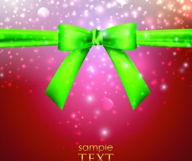 Bright Backgrounds with Bow design vector 04