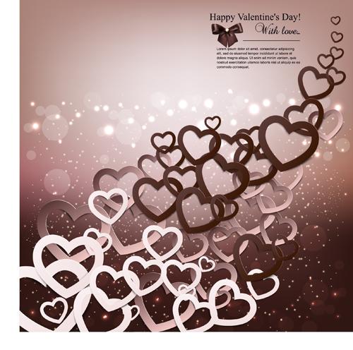 Romantic Happy Valentine day cards vector 05