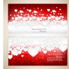 Red style Valentine cards design elements vector 06