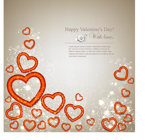 Romantic Happy Valentine day cards vector 06
