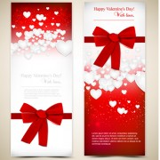 Link toRed style valentine cards design elements vector 07