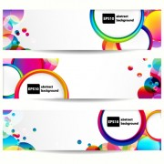 Link toAbstract banner with colored circular design vector 01